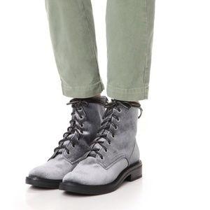 NWOB Dolce Vita Bardot Lace-Up Velvet Boot